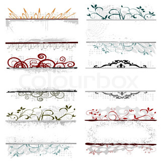 swirl floral borders for your text - vector