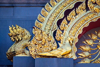 Decoration with golden dragons