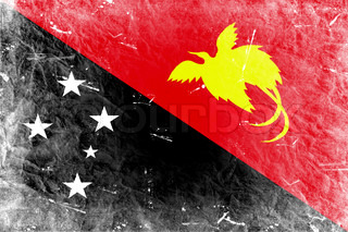 The Papua New Guinea flag