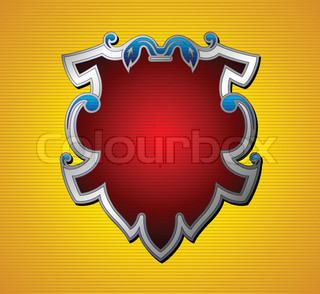 Colorful medieval shield