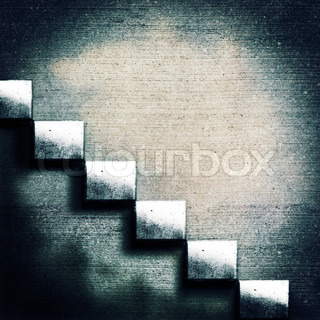 Abstract concrete stairs
