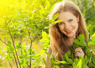 beauty girl in nature