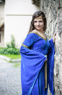 medieval princess on street