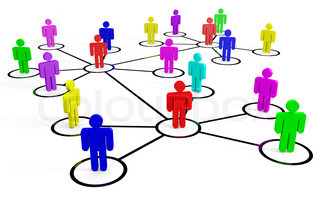 Business or social network Concept