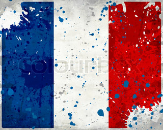 Grunge France flag with stains