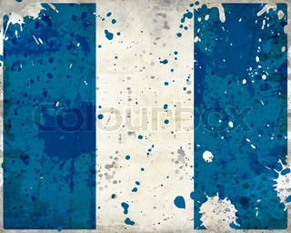 Grunge Guatemala flag with stains - flag series