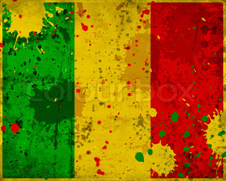 Grunge Mali flag with stains