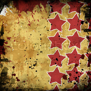 red stars on grunge background
