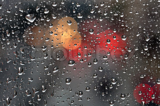 raindrops on glass background