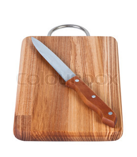 Kitchen knife on cutting board stock photo colourbox for Kitchen knife set of 7pcs with cutting board