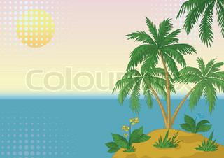 Vektor af 'naturlandskab, lagune, illustration'