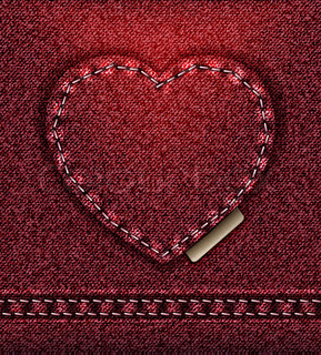 Jeans heart red brown raster love