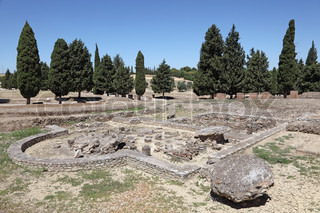 Ruins of Roman City Italica Seville Province, Andalusia Spain