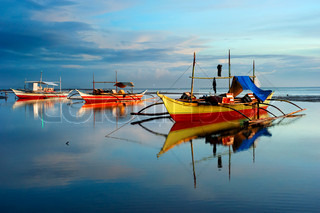 Traditionelle Boote in Philippinen