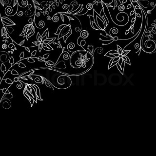 Monochrome floral background