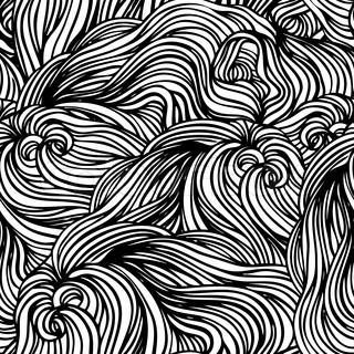 Vector seamless black and white abstract hand-drawn pattern