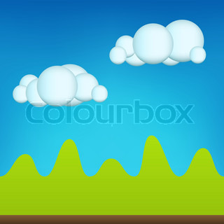 Green Cartoon Landscape