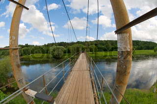 Suspension Bridge over the River