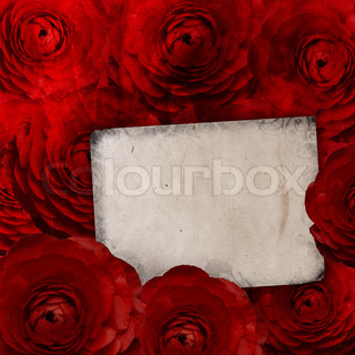 Birthday or Mother's Day card with roses and blank space