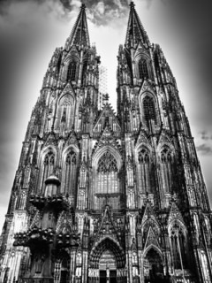 A street view of Cologne Cathedral
