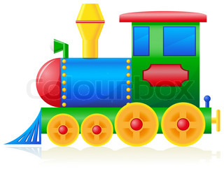 children locomotive illustration