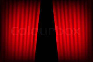 Entertainment Curtains Background For Stock Vector Colourbox