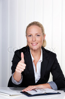 successful young woman in an office