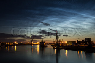 Noctilucent clouds and nightly port