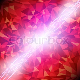 Abstract vector red diamond background