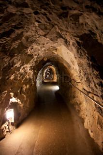 Corridor in rock
