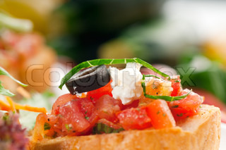 original Italian fresh bruschetta