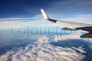 Airplain over clouds