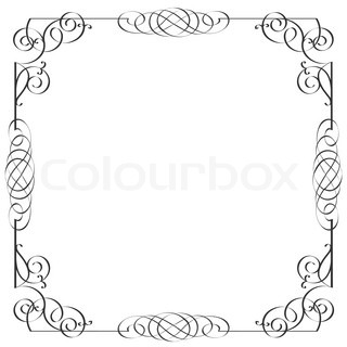 Delicate calligraphic frame