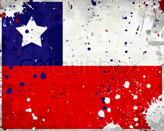 Grunge Chile flag with stains