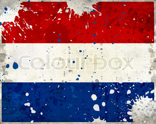 Grunge Netherlands flag with stains