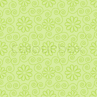 Seamless light green ornamental pattern