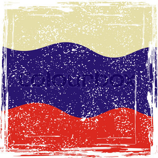 Russian grunge flag. Grunge effect can be cleaned easily.