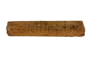 wooden block on a white background
