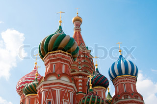 St Basil's Cathedral in Moscow on red square