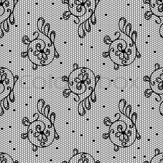 Old lace background, ornamental flowers Vector texture
