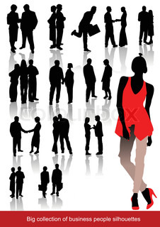 Office people silhouettes Vector illustartion