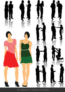 Office people silhouettes Vector illustration