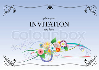 Vektor af 'invitation, illustration, brylluper'