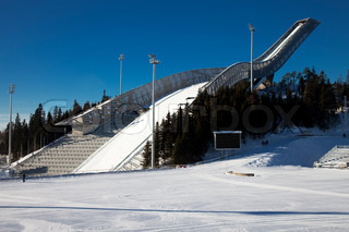 New Holmenkollen ski jump in Oslo Norway