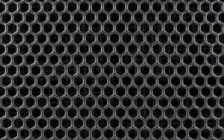 Abstract Steel or Metal Textured Pattern with Hexagonal Cells As Industrial Background