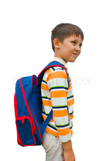 boy with a backpack on his back