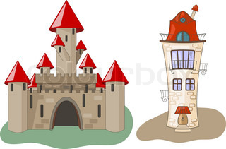 Vector Castle and House