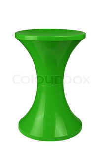 Plastic stool isolated on white background | Stock Photo | Colourbox | {Hocker modern kunststoff 83}