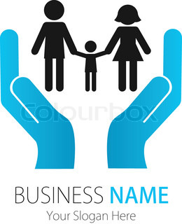 Company (Business) Logo Design, Vector, Peoples, Family, Hands