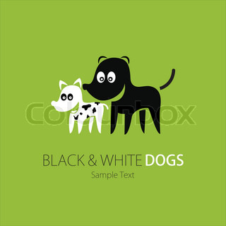 Company (Business) Logo Design, Vector, Black and White Dogs